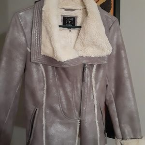 Guess suede and shearling motorcycle jacket